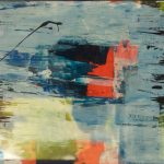 Acryl auf Papier, 35 x 100 cm